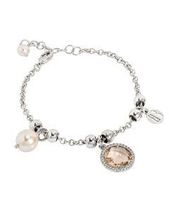 Bracelet With Beads Swarovski crystal and peach