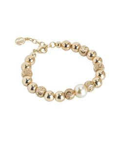 Bracelet with pearl Swarovski light gold