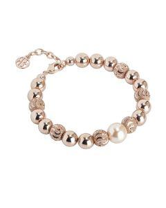 Bracelet with pearl Swarovski peach