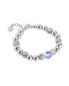 Bracelet with pearl Swarovski aurora borealis