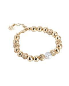 Bracciale dorato con perla Swarovski aurora boreale