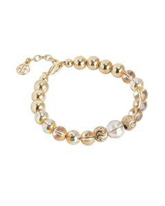 Golden Bracelet with Swarovski beads metallic sunshine