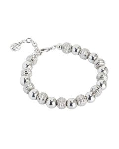 Bracelet with smooth Pearls and Diamond
