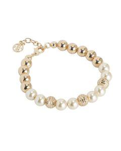 Bracciale con perle Swarovski light gold e diamantate