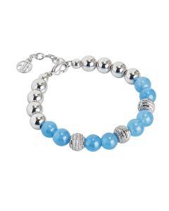 Bracelet rodiatos with Blue Agate