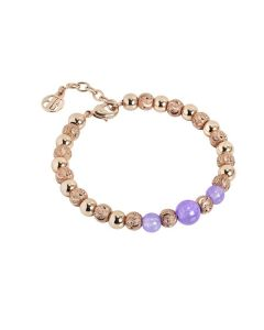 Bracelet with pearls jade lilac