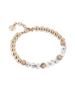 Bracelet with Swarovski beads antique pink