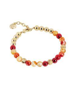 Bracelet with pearls of agata orange