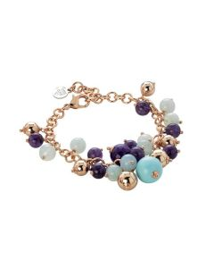 Bracelet with turquoise, amethyst and heavenly Agata
