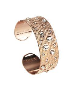 Rigid band bracelet with Swarovski crystal