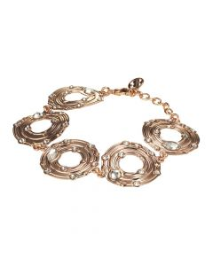 Bracelet with circular modules and Swarovski crystal