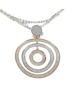 Necklace Pendant with three concentric circles