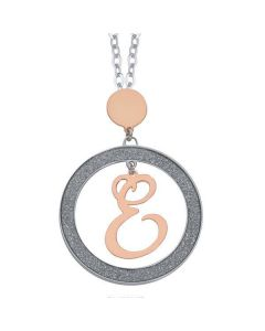Necklace with letter and pendant small