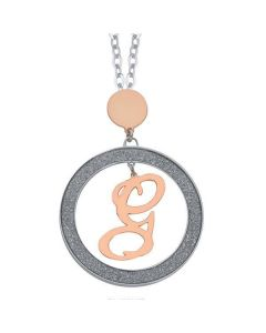 Necklace with letter G Small pendant