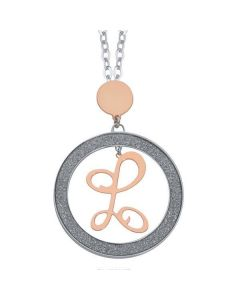 Necklace with letter L pendant small