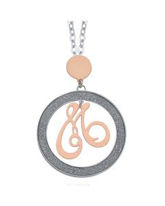 Necklace with letter M small pendant