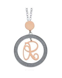 Necklace with letter R small pendant