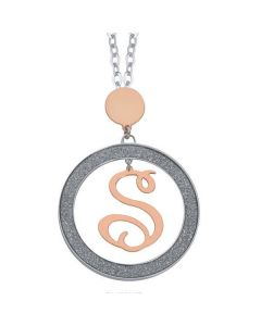 Necklace with letter S small pendant