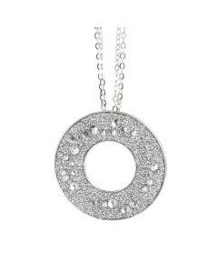Collana con pendente dalla superficie Swarovski galuchat silver