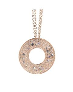 Necklace with a pendant from the surface Swarovski galuchat aurorara boreal
