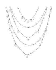 Multi-Strand necklace with charms Swarovski