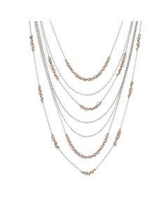 Multi-Strand necklace with inserts diamond bicolor