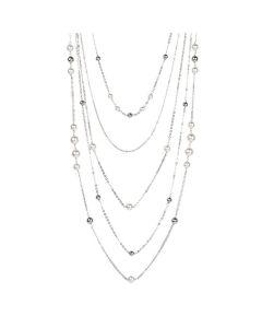 Collana multifilo degradè con perle Swarovski