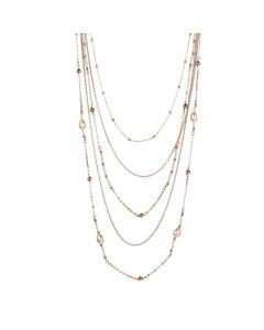Multi-Strand necklace degradè with Swarovski beads