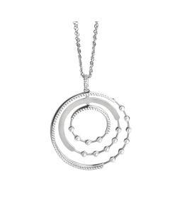 Collana doppio filo con orbite di zirconi e Swarovski
