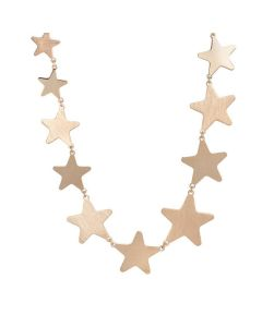 Pink necklace with stars degradè