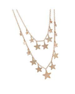 Necklace doppiofilo degradè with stars