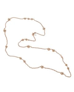 Necklace with balls through rosate