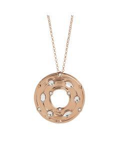 Collana con pendente circolare e Swarovski crystal