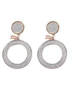 Earrings bicolor pendants, small size