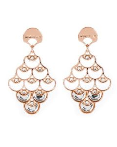 Earrings with pendant from processing scales