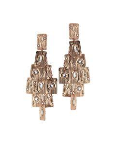 Orecchini chandelier con Swarovski crystal