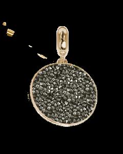 Charm con tappetino Swarovski metallic silver