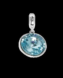 Charm with Swarovski crystal light torquoise