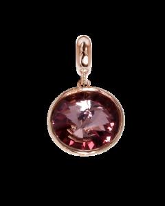 Charm with Swarovski Crystal antique pink
