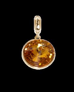 Charm with Swarovski Crystal topaz