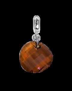 Charm con cristallo Swarovski irregolare copper