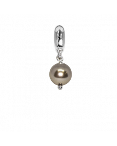 Charm con perla Swarovski bronze