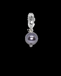 Charm with pearl Swarovski Mauve