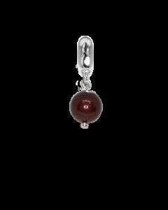 Charm con perla Swarovski bordeaux