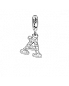 Charm with the letter A in zircons