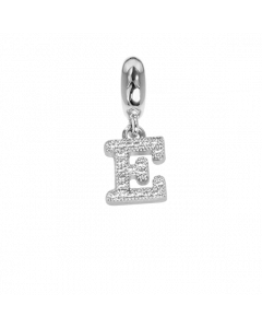 Charm with letter and zircons