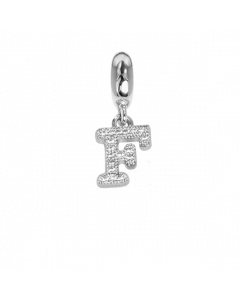 Charm with letter F in zircons