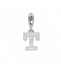 Charm with letter T in zircons