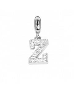Charm con lettera Z in zirconi