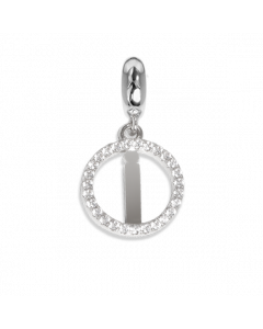 Circular charm in zircons with letter I
